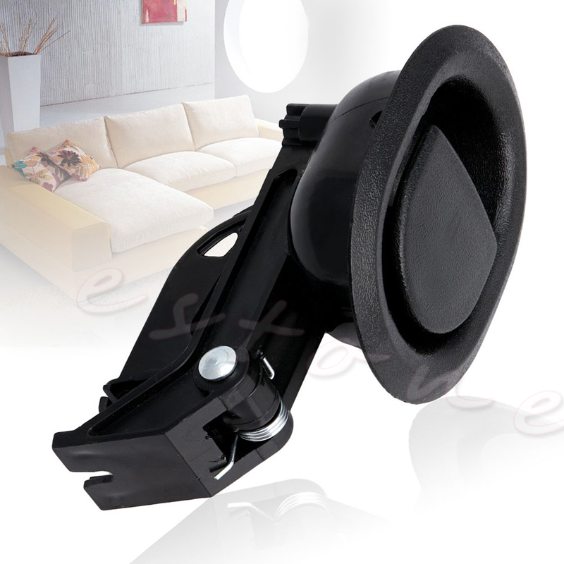 1Pc Recliner Sofa Chair Oval Release Lever Handle Black Hard Plastic New L15