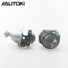 Autoki Car styling Auto head light 3.0 inch Bi xenon Projector Lens HELLA H7 Lossless Non-destructive H1 H3 H4 H7 H11 цена в Москве и Питере