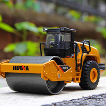 6 Styles 1:50 Diecast Alloy Construction Vehicle Excavator Truck Car Autotruck Breaking Hammer Vehicles Model for children boys