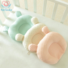 Herbabe 100% Cotton Baby Pillow Newborn Animal Shape Baby Prevent Flat Head Cushion Infant Nursing Pillows Toddler Sleep Pillow
