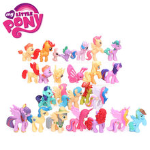 Conjunto de pcs My Little Pony Brinquedos 2.5-5 25 cm Pony Twilight Sparkle Rainbow Dash Figuras de Ação PVC spike o Dragão Applejack Bonecas(China)