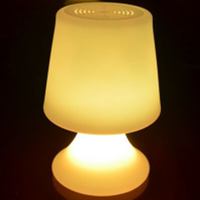 D23*H21cm Mushroom LED table lamp D15*H25cm illuminose Desk Lamp Lights Rechargeable for Coffee Bar free shipping 10pcs/lot