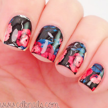 Flower Painting Nail Art