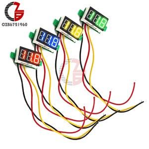 0.28 inch DC LED Digital Voltmeter 0-100V Voltage Meter Auto Car Mobile Power Voltage Tester Detector 12V Red Green Blue Yellow(China)