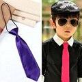 1PCS New Gentlemen Neckties Fashion Casual Designer Brand School Students Children's Boys Tie Formal Wedding Party