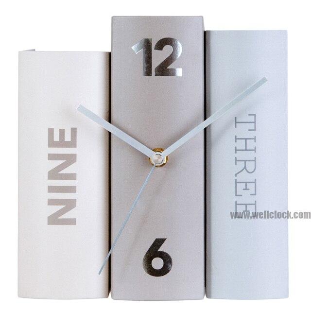 Neue Buch Uhren Drei Design Farbe Schreibtisch Papier Buch ...