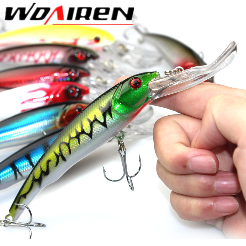 1PCS 16cm 28g Wobbler Fishing Lure Big Crankbait Minnow Peche Bass Trolling Artificial Bait Pike Carp lures Peche Fishing tackle цена