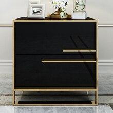 Белый черный Современный Железный литой золотой тумбочка журнальный столик прикроватная тумбочка мебель для дома тумбочка шкаф кровать комната
