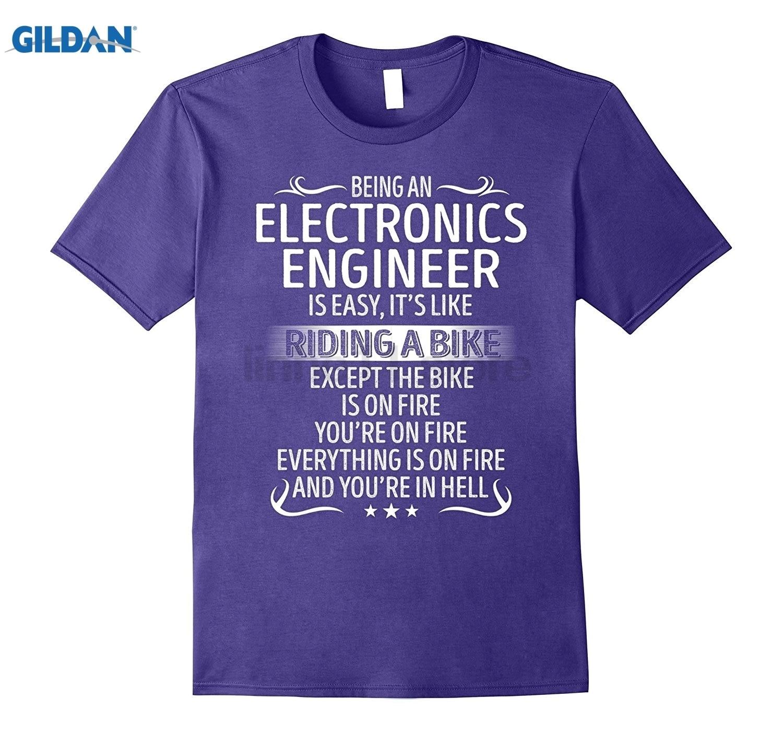 GILDAN Being An Electronics Engineer Its Like Riding A TShirt Womens T-shirt
