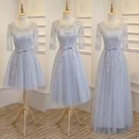 New Light Grey Champone Fairy Floor Length Sexy Lady Girl Women Princess Bridesmaid Banquet Party Ball