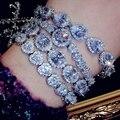 Brillante pulsera de moda joyas pulsera de cristal de circón gota regalos de cumpleaños ALW1506