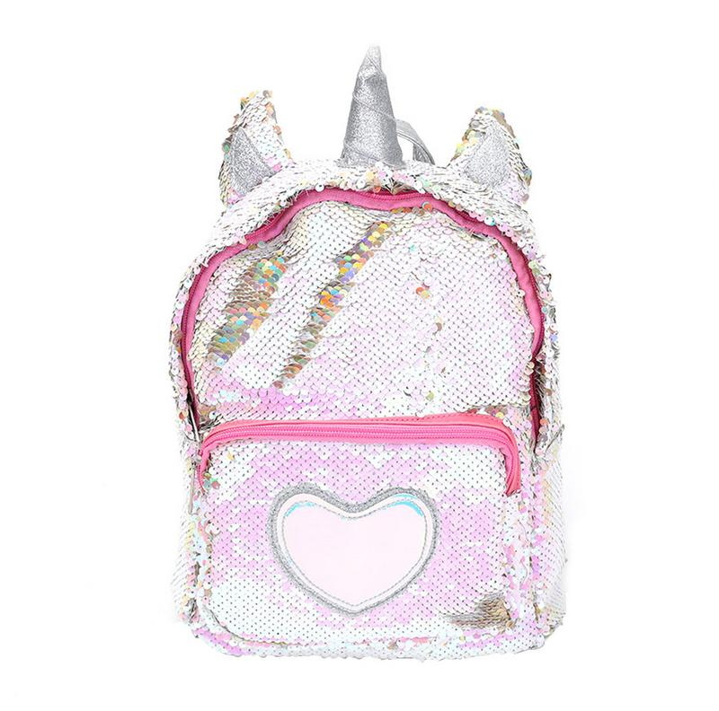 Women Girls Fashion 2 Way Sequins Glitter Backpack Sequins Backpack Cartoon Cute Bag Travel Backpack #2