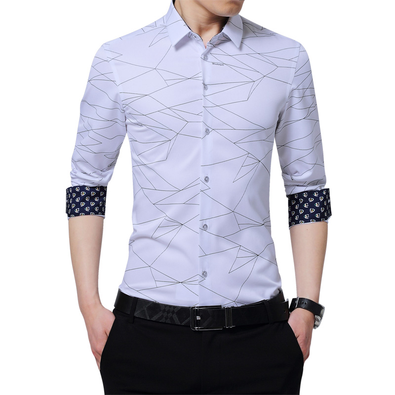 Sale new arrival top quality mens formal shirts print long for Best quality shirts to print on