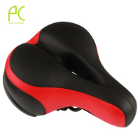 PCycling Soft Comfortable Widen Thicken Bicycle Saddle Seat Cushion With Reflective Sticker For Road Bike Mountain