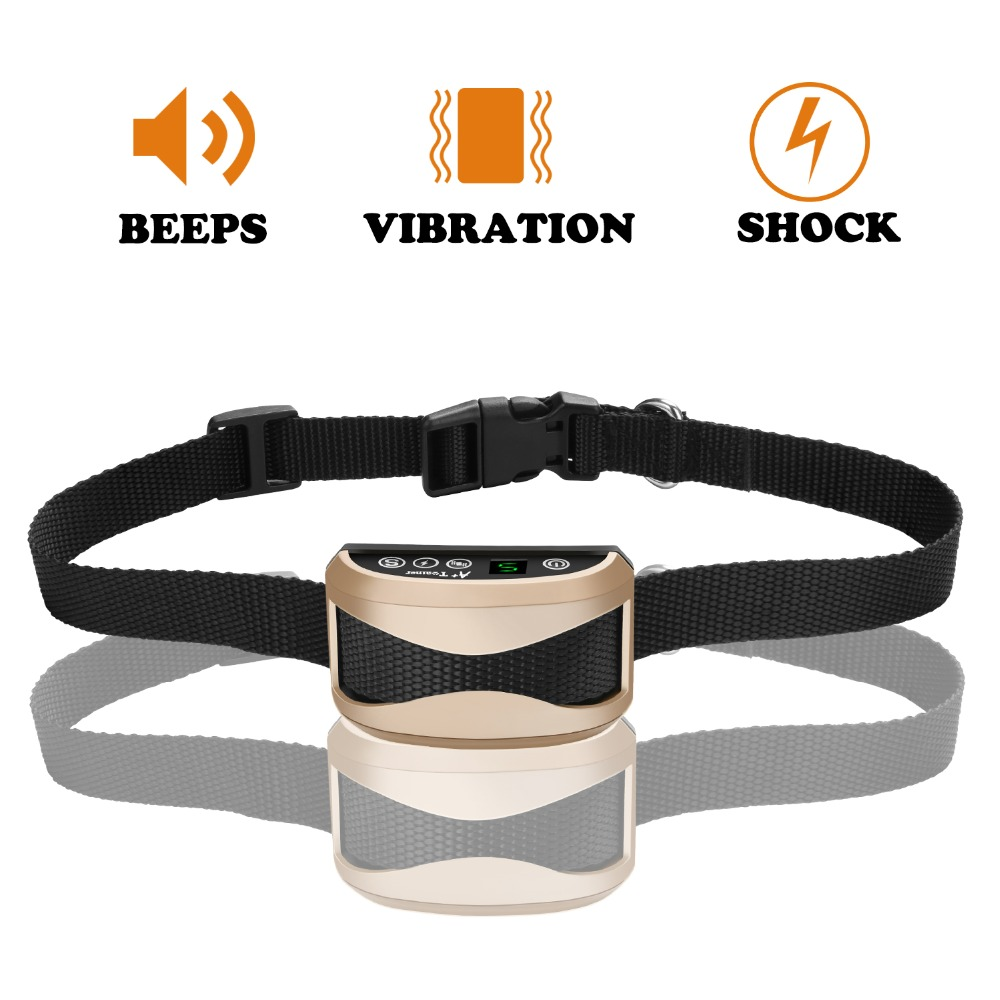 Dog Anti Bark Collar Waterproof Rechargeable Sound Shock ...