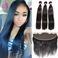 Brazilian Straight Hair Bundles With Frontal Deals Ear To Ear Lace Frontal With Baby Hair And Bundles 13x4 Lace Frontal Straight