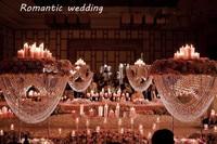 3pcs/lot tall crystal acrylic wedding centerpiece/crystal wedding cake stand/acryli flower stand/wedding pillar table decoration