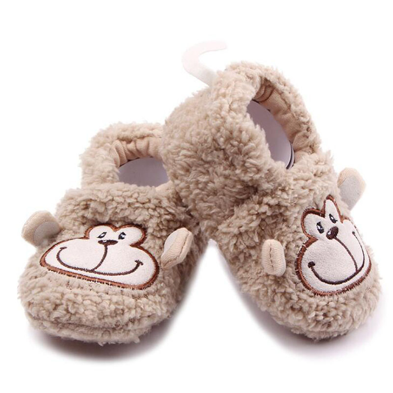 De dibujos animados Zapatos de Bebé de Invierno de Coral Polar Zapatos de Bebé N