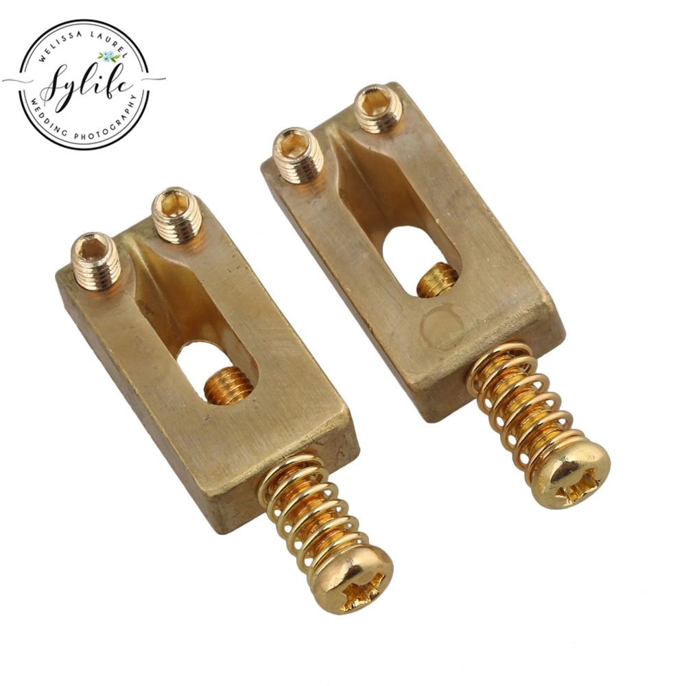 6pcs gold color brass compensated saddles for electric guitar bridge in guitar parts. Black Bedroom Furniture Sets. Home Design Ideas
