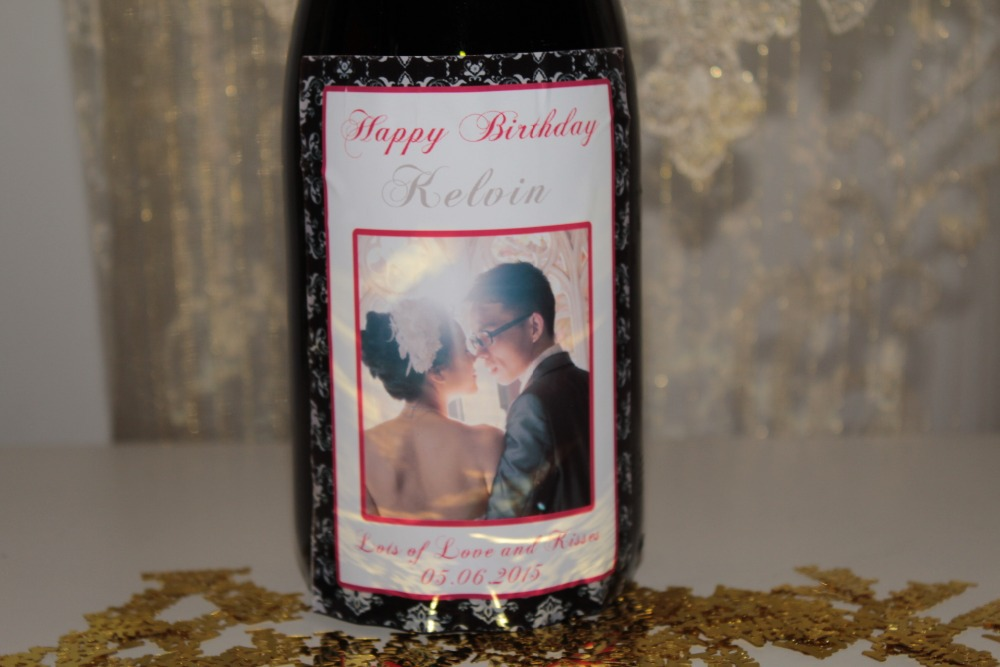 10pcs Personalized Damask Wedding Valentine Engagement Champagne Wine Bottle Labels Sticker Wrers Custom Photo In Party Diy Decorations From Home
