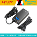 Lvsun 70 w 5-24 v adaptador de alimentación de ca portátil universal cargador portátil para acer/toshiba/asus/lenovo con usb y 8 conectores libres