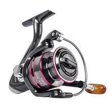 цена Zinc Alloy CNC Alloy HB6000 8KG Fishing Reel Max Drag Stainless Steel Handle Line Spool Saltwater Outdoor Fishing Accessories