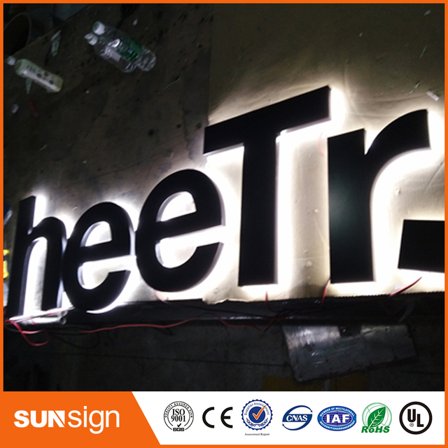 US $54 4 |New advertising diy acrylic led backlit channel letter sign-in  Electronic Signs from Electronic Components & Supplies on Aliexpress com |
