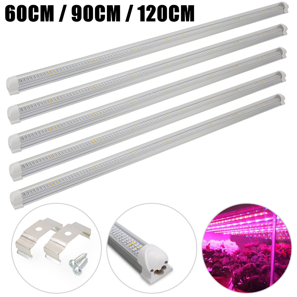 (5pcs/Lot) LED Grow Light T8 Led Tube Integrated Lamp For Indoor Greenhouse Flower Plant And Hydroponics System Grow Strip Bar