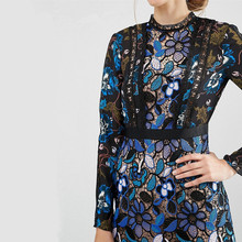 HIGH QUALITY 2017 spring new long sleeve Lace dress