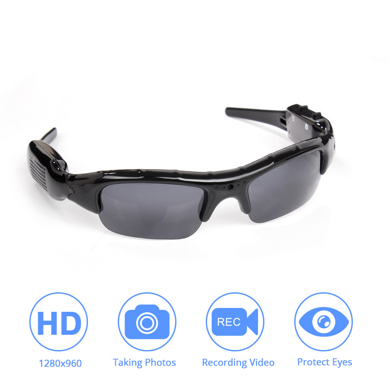 Eyewear Sunglasses Camera DVR Video-Recorder Audio Light-Weight TF for Adult High-Quality