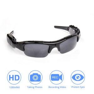 Image 1 - Caméra de lunettes de soleil DVR légère TF Mini enregistreur vidéo Audio Mini enregistreur vidéo DV de haute qualité lunettes élégantes pour adulte