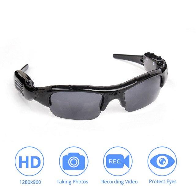 Caméra de lunettes de soleil DVR légère TF Mini enregistreur vidéo Audio Mini enregistreur vidéo DV de haute qualité lunettes élégantes pour adulte