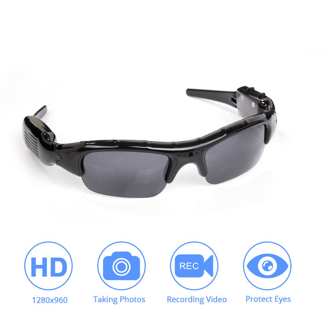 Light weight DVR Sunglasses Camera TF Mini Audio Video Recorder High Quality Mini DV Video Recorder Stylish Eyewear For Adult
