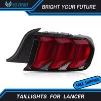 2Pcs LED Tail Lamp for Ford Mustang Tail Lights 2015 2019 Rear Light DRL+Turn Signal+Brake+Reverse LED light