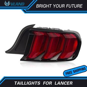 Full LED Tail Lamp for Ford Mustang Tail Lights 2015-2019 Rear Light  DRL+Turn Signal+Brake+Reverse LED Light
