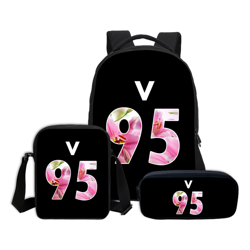 VEEVANV 3 PCS/SET Children Bookbag BTS Letter Printing Backpacks Girls School Bag Boys Casual Daily Shoulder Bag Fashion Mochila kovea tkl n 894