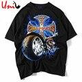 2016 Camisa Dos Homens T de Verão Criativo Punk Rock Camisetas 3D Impresso motocicleta camisetas Hip Hop Man Tee Street-wear Homens Tshirt YN560