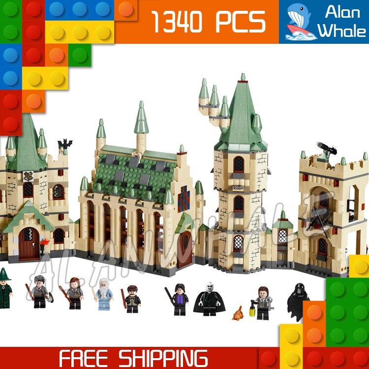 1340 pièces Magie Poudlard Châteaux Gryffondor L'école 16030 Figure Blocs De Construction Jouets Film Harri Potter Compatible Avec LegoING