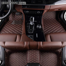 CHOWTOTO Special Floor Mats For Ford Explorer 7seats Durable PU Leather Carpets For Explorer 7 Seats