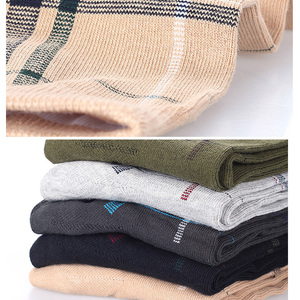 Image 4 - 5 Pairs/Lot Socks Men Dress Wedding Crew Healthy Cotton Colorful Casual Long Breathable Soft Socks Gift for Male
