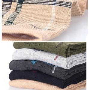 Image 4 - Calcetines de algodón para hombre, calcetín largo transpirable, colorido, suave, 5 par/lote