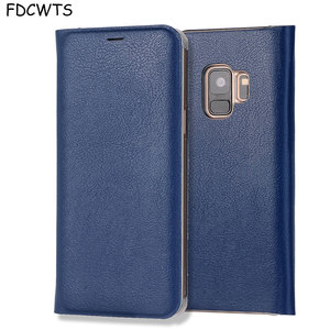 Image 1 - FDCWTS Flip Cover Leather Case For Samsung Galaxy S9 Plus S9 Wallet Phone Case Cover With ID Credit Card Holder For Samsung S9