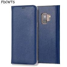 FDCWTS Flip כיסוי עור מקרה עבור Samsung Galaxy S9 בתוספת S9 ארנק טלפון מקרה כיסוי עם מזהה אשראי כרטיס בעל עבור Samsung S9