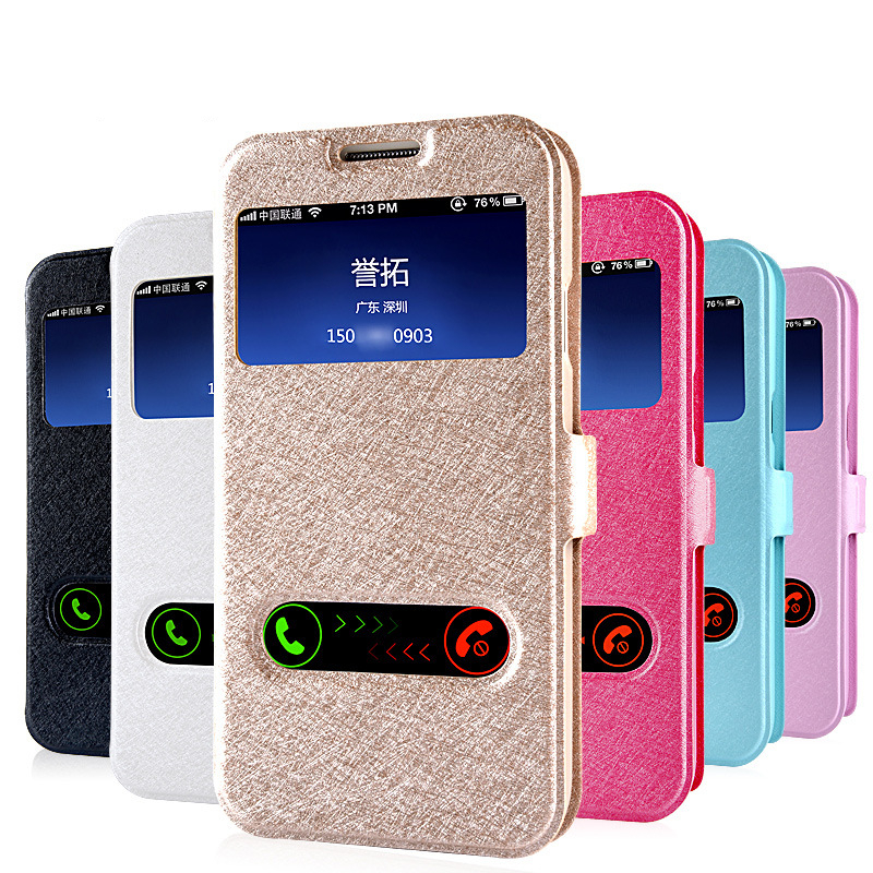 Noble Luxury Phone Case For Samsung S4 Case Samsung Galaxy S4 S5 Cover Silk Leather Silicone