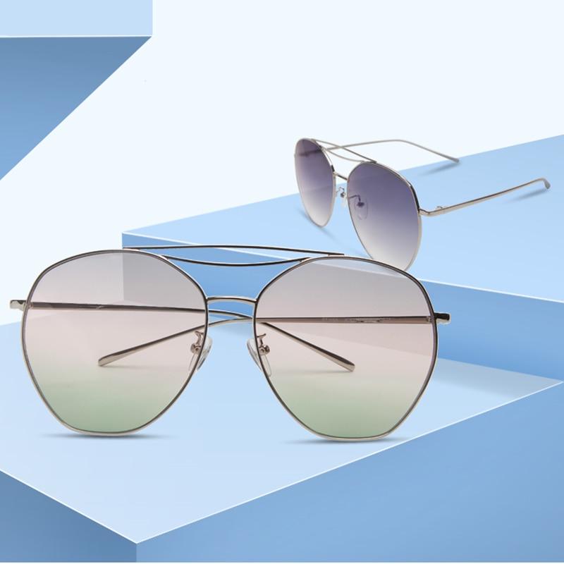 Freien Im Sommer Der Farbige Unregelmäßigen Sonnenbrille De Objektiv Sol Spiegel sliver pink Klassische sliver Legierung sliver Frauen Polarisierte Uv400 Gafas Sliver yellow qg4880