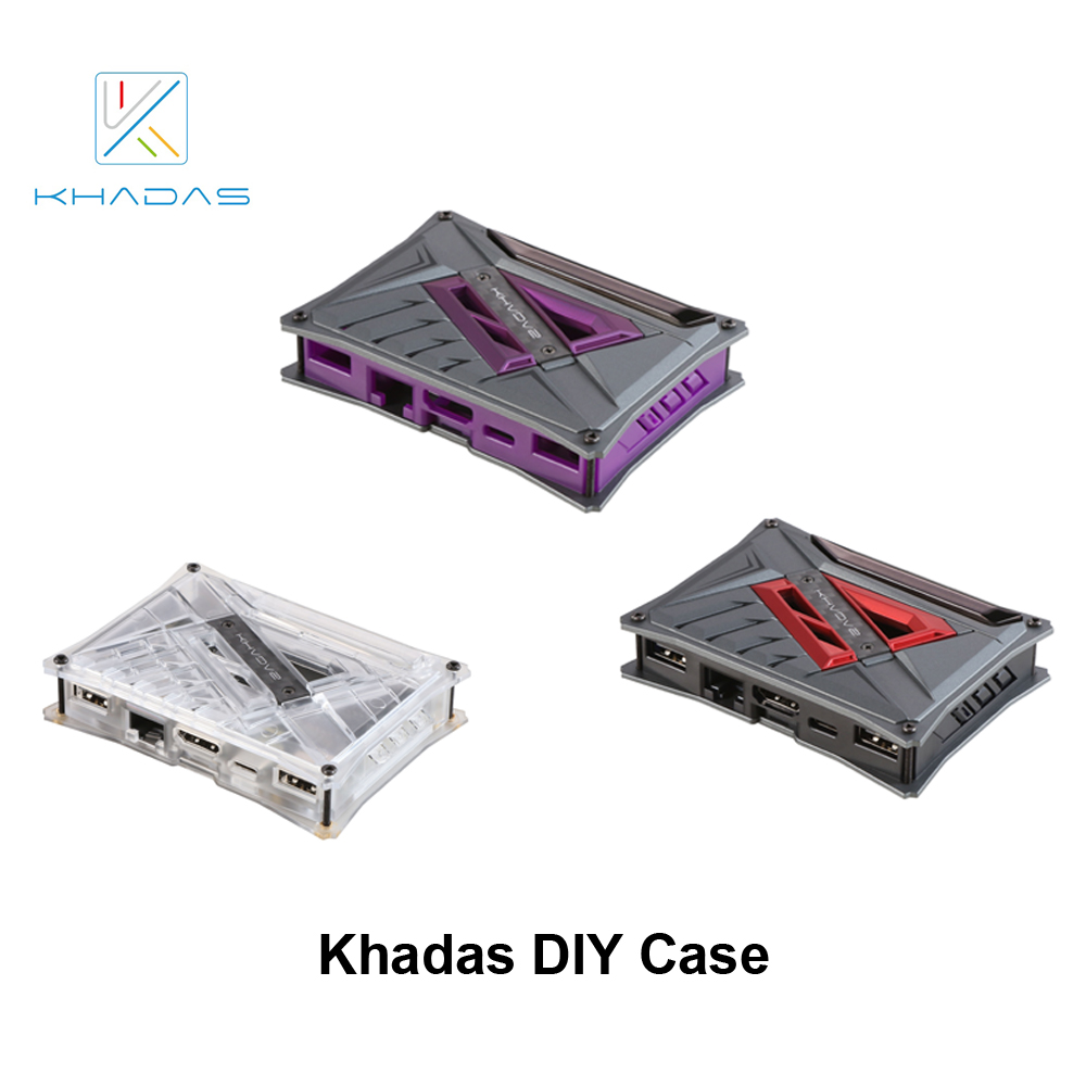 Khadas DIY Case With Purple/Red/Transparent Color Optional