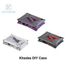 Чехол Khadas DIY с фиолетовым/красным/прозрачным цветом на выбор