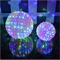 led stage background light waterproof Colorful Changing Ball Decoration Garden Lights Peach Blossom Christmas 12/15/25cm 220V EU