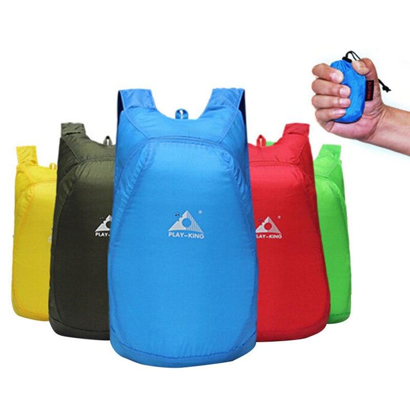 Arrampicata all'aperto Borsa Sportiva di Viaggio In Nylon Leggero Zaino Pieghevole Zaino Impermeabile borsa Pieghevole Ultralight Outdoor Pack