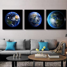 Nordic Canvas Painting Print Wall Art Home Decor Earth Photograph Poster Living Room Vivid Picture Nordic Minimalist Painting nordic minimalist cute animal children s room canvas painting art print poster picture wall living room bedroom home decor